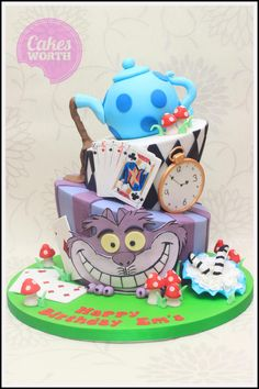 Alice in Wonderland - Cake by CakesWorth