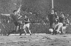13 March 1979 Andy King moves on to a flicked pass from Bob Latchford to equalise for Everton in the Anfield derby