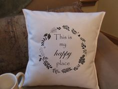 Hey, I found this really awesome Etsy listing at https://www.etsy.com/listing/219301458/this-is-my-happy-place-decorative-throw
