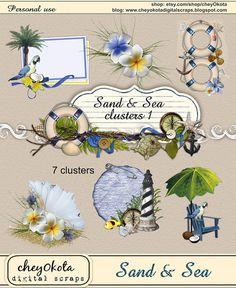 Sand & Sea Cluster Set 1 - clustered