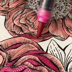 Watercolor Flowers Tutorial, Art Watercolour, Watercolor Painting Techniques, Painting & Drawing, Illustration Art Drawing, Art Drawings, Colourful Garden, Mandala Art Lesson, Trending Art