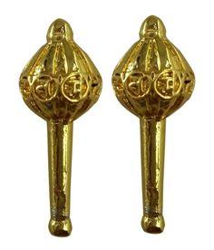Gada (mazza)in legno o metallo, si compone essenzialmente di una testa sferica montato su una mazza.Il gada è l'arma principale del dio indù Hanuman . Noto per la sua forza. L arma può essere maneggiata in venti modi diversi, anche per esercitare la forza.