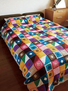 Kukka Bedspread Crochet Blanket.