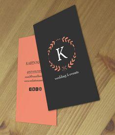 Karen doble cara tarjeta de visita - descarga instantánea