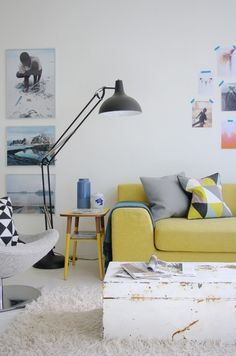 Want some living room design ideas? We really want to keep up on giving you the best tips for your living room interior design. Living Room Interior, Home Interior, Home Living Room, Living Room Designs, Living Room Decor, Living Spaces, Interior Colors, Ikea Interior, Yellow Interior