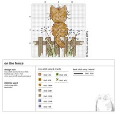 Cross Stitch Cat - Pattern Free Durene Jones
