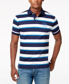 Tommy Hilfiger Men's Classic Fit Archer Stripe Polo