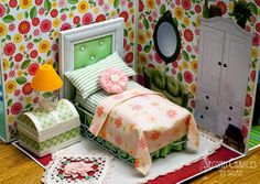 Second Chances by Susan: Collapsible Dollhouse: upside down napking holder for bed