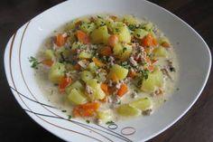 Kartoffel-Hackfleisch-Topf mit Schmand und Möhren