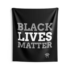 Blacklivesmatter, Black lives matter Indoor Wall Tapestries Wall Tapestries, Tapestry, Indoor, Etsy, Life, Black, Wall Hangings, Hanging Tapestry, Interior