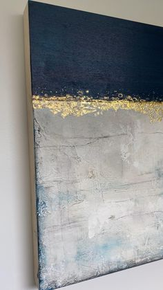 Abstract Painting Techniques, Abstract Canvas Art, Diy Canvas Art, Oil Painting Abstract, Textured Canvas Art, Gold Canvas, Gold Leaf Art, Painting With Gold Leaf, Texture Art
