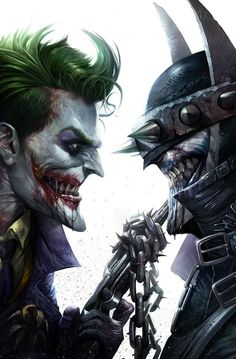 Batman who laughs and Joker Joker Comic, Joker Pics, Joker Art, Joker Batman, Joker And Harley, Batman Metal, Batman Dark, Batman Universe, Comics Universe