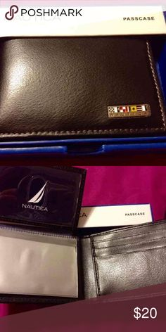 Brand new men's nautica passcode wallet Nautica Mens Passcase Billfold Black Wallet. Brand new with tags. 100% Authentic. Brand:  If you would like to bundle items, feel free to contact me.  #nauticawallet #menswallet #authentic #nautica #wallet #passcase #billfold Nautica Accessories