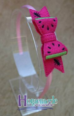 Watermelon Headband-Watermelon Bow-3D Felt by HomemadeTrends