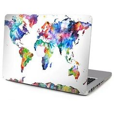 Laptop Top Vinyl World Continent Map skin