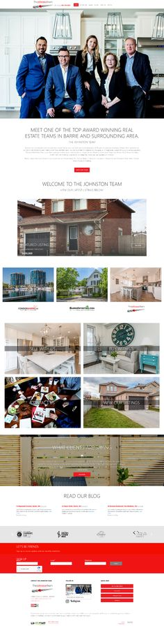 Website makeover for the Johnston team of Barrie, ON. Uses Ubertor CMS. Responive and mobile ready. Mls Listings, Website Designs, Real Estate Marketing, Townhouse, Custom Design, Terraced House, Site Design, Website Layout, Web Design