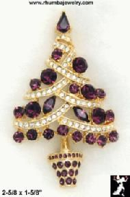 Purple ~ Christmas Tree Pin==This is so lovely and I've never seen one like this before!