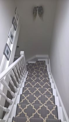 26 Ideas For Attic Stairs Diy Basement Steps Carpet Staircase, House Staircase, Hall Carpet, Staircases, Grey Stair Carpet, Staircase Remodel, Open Staircase, Staircase Ideas, Attic Stairs