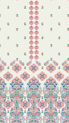 Illustrations Discover Spring 2017 Paisleys and Florals Spring 2017 Paisleys and Florals on Behance Motifs Textiles, Textile Prints, Textile Patterns, Textile Design, Quilt Patterns, Motif Paisley, Paisley Design, Flower Illustration Pattern, Persian Motifs