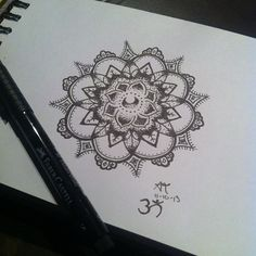 Mandala Designs, its-just-abi: My first completed mandala...