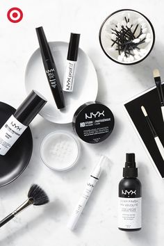 Wedding and graduation season is just around the corner, which means you need to add these get-picture-perfect finds from NYX to your makeup bag stat. First, prep your face and eyelids with primer to help makeup stay and give color a little extra pop. Set foundation and blush with a dusting of finishing powder. Bring attention to your eyes by lining the inner corners with a white pencil, then top 'em off with waterproof mascara. Lastly, set the entire look with a light spritz of setting…