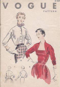 Vintage 1953 Misses Shrug / Bolero Pattern by CottageLaneTreasures, $16.00
