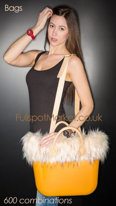 Fullspot O bag. Italian designer fashion handbags. Numerous colours, strap types and colours, accessories like fur and wool trims, and inner canvas bags for security. From www.fullspotmarket.co.uk.