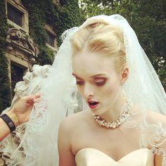 Backstage pic #makeup #makeupartist #makeuppro #ilovemyjob #bride #blonde #model #beauty #fashion #editorial #shooting