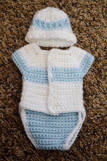 Free Pattern for crochet diaper shirts