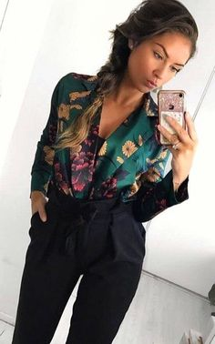 Gorgeous Fall Outfits To Stand Out From The Crowd grünes und mehrfarbiges Damen Business Casual Outfits, Business Attire, Business Fashion, Classy Outfits, Casual Interview Outfits, Mode Outfits, Fall Outfits, Fashion Outfits, Fashion Trends