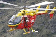 Canterbury West Coast Air Rescue BK117 helicopter, New Zealand // Photo www.airrescue.co.nz