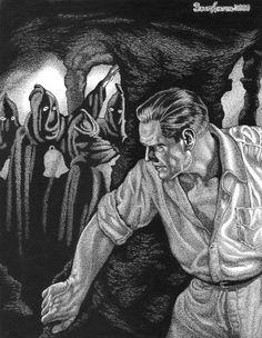 THE CZAR OF FEAR, by Frank Hamilton Pulp Art, Sketch Art, Savage, Hamilton, Hero, Graphics, Graphic Design, Charts