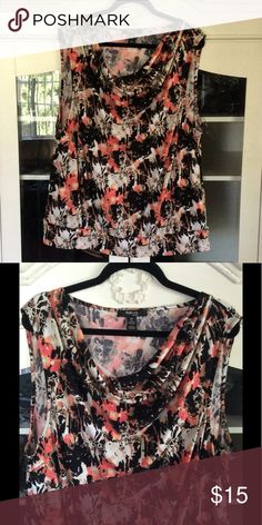 Sleeveless Cowl Neck Top Sleeveless Top, Black & coral. Feel free to ask questions! 🙂.   Bundle your likes & I'll send you a personal discounted offer (no obligation to buy!).  Or make your own offer! Happy Poshing! Style & Co Tops