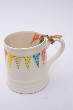 bunting mug, handpainted £19.50