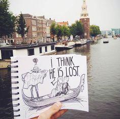 Cartoonbombing – Quand un illustrateur incruste ses créations dans la réalité… (image)