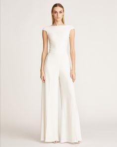 Wedding Pants, Wedding Jumpsuit, Wedding Dresses, Couture Fashion, Formal Wedding, Evening Gowns, One Shoulder Wedding Dress, Wide Leg, Ready To Wear