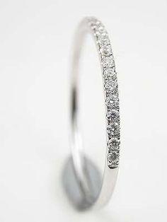 Petite Diamond Wedding Ring.. I LOVE this! I think I have just found my wedding band. :) #weddingbands