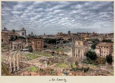 The Ruins of the Roman Forum in Rome, Italy.