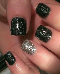 Acrylic Glitter Nail Designs - http://www.mycutenails.xyz/acrylic-glitter-nail-designs.html