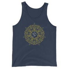 Mandala Om Symbol Buddhism Buddha Yogi Yoga Men Women Unisex  Tank Top  #yogi #yoga #fashion #tanktop #Mandala #OM #Omsymbol #yogifashion