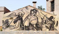 'Castor's death', Street Art by Fikos, located in Athens, Greece Byzantine Art, Sky Art, Athens Greece, Artist Gallery, Mural Art, Street Artists, Conceptual Art, Banksy, Magazine Art