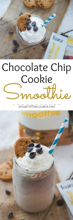 Chocolate Chip Cookie Smoothie ~ A quick, easy and nutritious smoothie that satisfies the sweet tooth and is packed with protein.