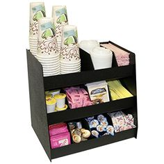 """Now 11 Compartments for Coffee Condiments. Comes with 8 Extra Tall Removable Dividers. 16"""" Wide. Made in the USA by PPM."""