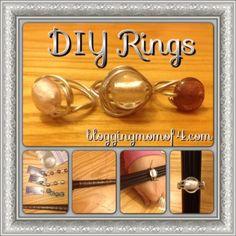 Make Your Own DIY Rings #DIY #Crafts