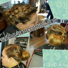 Braided updo with a bun!.