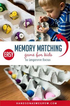Challenge your kids to copy a pattern without peeking! This simple memory match activity for kids is easy to make with supplies you already have! Perfect for preschoolers quiet time to keep busy and learning to focus. #easypreschoolactivities #learningactivities