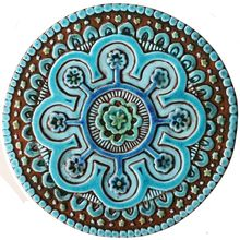"Outdoor Decorative Tiles For Walls Beauteous Suzani Outdoor Decor 108"" 275Cm Cutout Design Turquoise #1 Design Decoration"