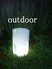 I had to read it to know how awesome this sounds.  It will is safe and easy indoors or out - stores flat - very heatherly cheap tricks for chic chicks: giant luminaries . .