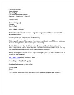 10 best donation letter samples images on pinterest donation
