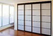 IKEA Sliding Door panels for closets Creative Closets, Shoji Doors, Home, Folding Closet Doors, Closet Design, Closet Bedroom, House Design, Sliding Closet Doors, Bifold Closet Doors